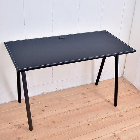【凱堡】馬鞍工作桌電腦桌(附電線孔蓋) 桌子書桌-居家日用.傢俱寢具-myfone購物