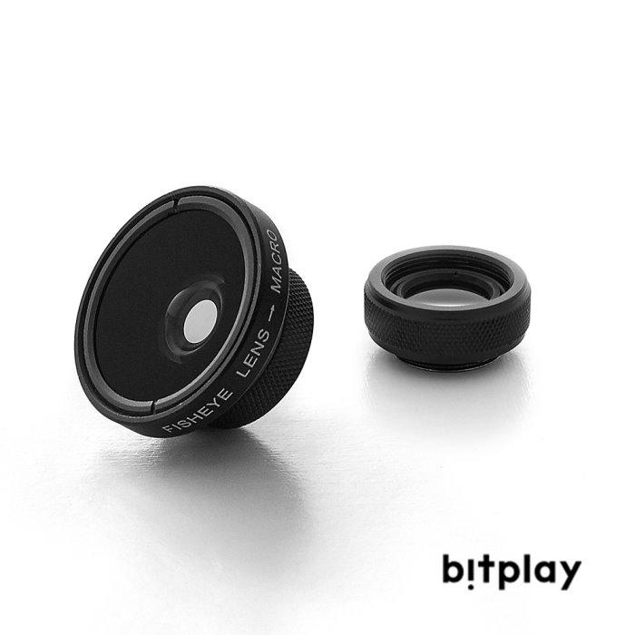 bitplay 魚眼鏡頭Fisheye+微距鏡頭Macro Lens 專業鏡頭組(2 in 1)