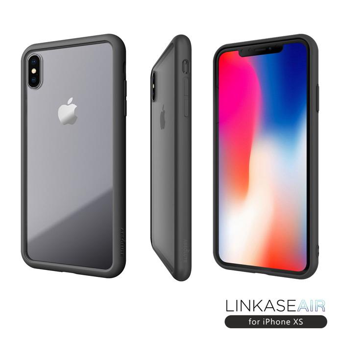 【熱賣】LINKASE AIR iPhone XS/X (5.8吋)專用 美軍規防摔認證9H大猩猩康寧玻璃淨透機身2x抗衝擊手機保護殼
