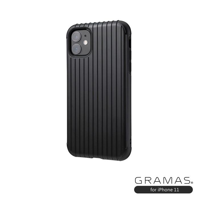 GRAMAS 東京職人工藝iPhone 11 (6.1吋)專用 雙料保護軍規防摔行李箱手機殼-Rib系列