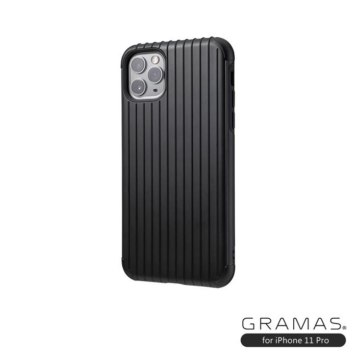 GRAMAS 東京職人工藝iPhone 11 Pro (5.8吋)專用 雙料保護軍規防摔行李箱手機殼-Rib系列