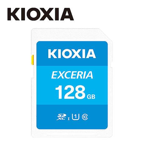 【TOSHIBA】KIOXIA EXCERIA  128GB SDHC UHS-1 U1 C10 R100 Card 記憶卡 (台灣製造)【LNEX1L128GG4】
