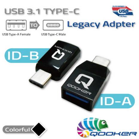 APP限時搶購-酷可USB3.1 Type-C 迷你轉接器 C 公 轉 A母