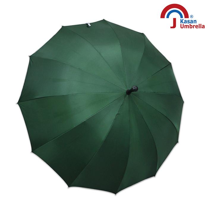 【Kasan】大傘面12K銀素自動直傘(墨綠)