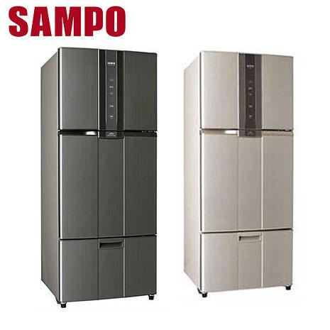 【SAMPO聲寶】 530公升AIE變頻三門冰箱SR-A53DV(K2)石墨銀(Y2)炫麥金 送安裝(Y2)炫麥金