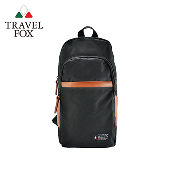 【TRAVEL FOX 旅狐】單肩/雙肩兩用輕巧後背包 TB689-01 黑色