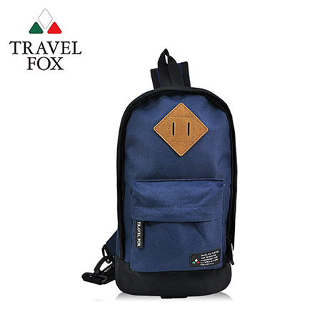 【TRAVEL FOX 旅狐】尼龍輕巧豬鼻系單肩斜背包 TB666-47 藍色