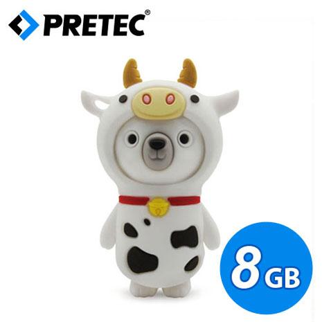 PRETEC《熊熊蹺家歷險記》動物變裝隨身碟(乳牛款) 8GB