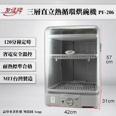 【友情牌】直立式熱風循環烘碗機PF-206