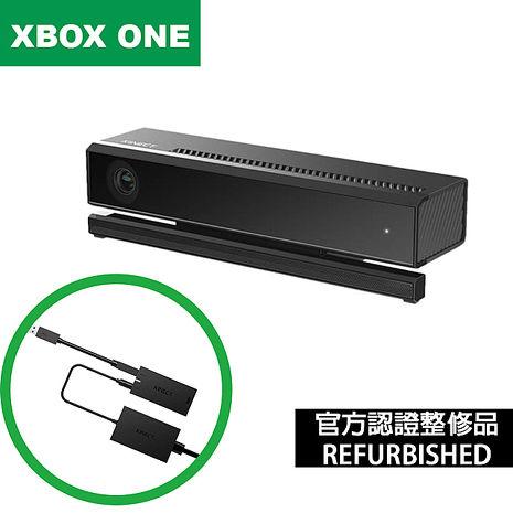 福利品 【Microsoft 微軟】Xbox One Kinect v2感應器視訊攝影鏡頭+轉接器適配器