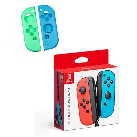 Switch Joy-Con左右控制器《左紅右藍》贈:果凍套含類比組