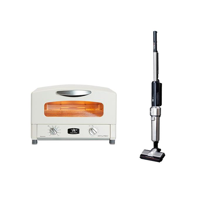 (限時領券再折)日本阿拉丁4枚燒瞬熱烤箱+日本IRIS氣旋偵測灰塵無線吸塵器 IC-SLDCP5