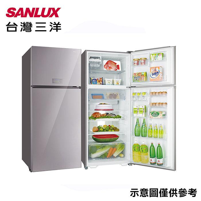 【SANLUX台灣三洋】480公升1級能效變頻雙門冰箱 SR-C480BVG