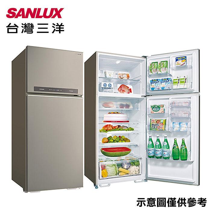 【SANLUX台灣三洋】580公升1級能效變頻雙門冰箱 SR-C580BV1B