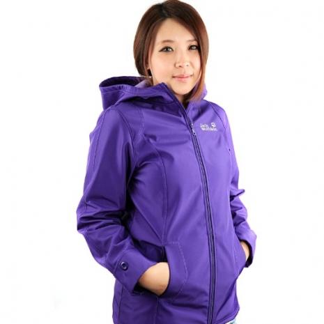 【JackWolfskin 飛狼】MIT女款防風防潑水軟殼外套(紫色)