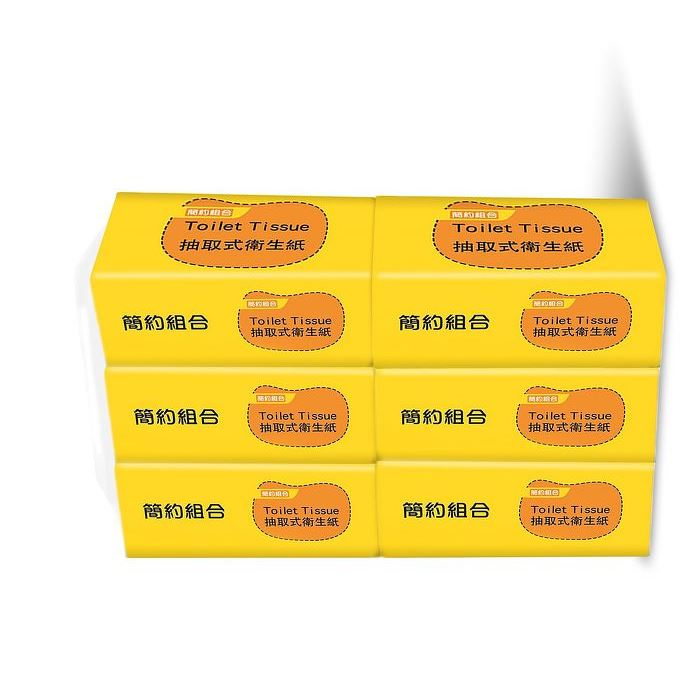 【簡約組合】優質抽取式衛生紙90抽x6包