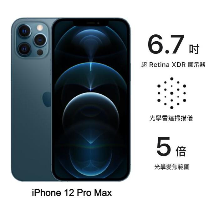 Apple iPhone 12 Pro Max 256G (藍) (5G)【米家智慧燈泡】