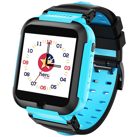 【e即棒】【hereu】HeroWatch 全球首款奈米科技防水4G兒童智慧手錶-英雄藍(門號專案)