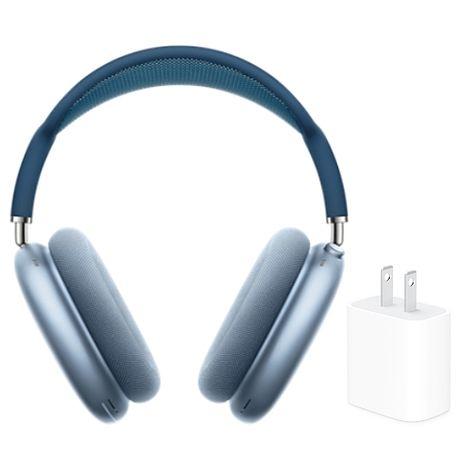 【送Apple原廠 20W充電頭】Apple 原廠 Airpods Max 無線耳罩式藍牙耳機 (MGYL3TA/A) 天藍