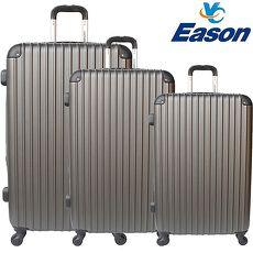~YC Eason~ 流線型三件組可加大海關鎖款ABS硬殼行李箱 20 24 28吋~雅痞