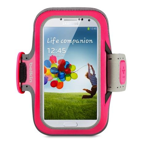Belkin 舒適 運動 臂套 Armband Galaxy S4 粉紅色-手機平板配件-myfone購物