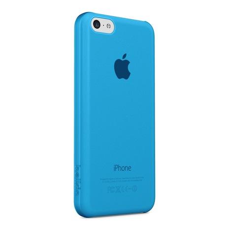 Belkin iPhone 5C 超薄 透明 保護殼 藍色