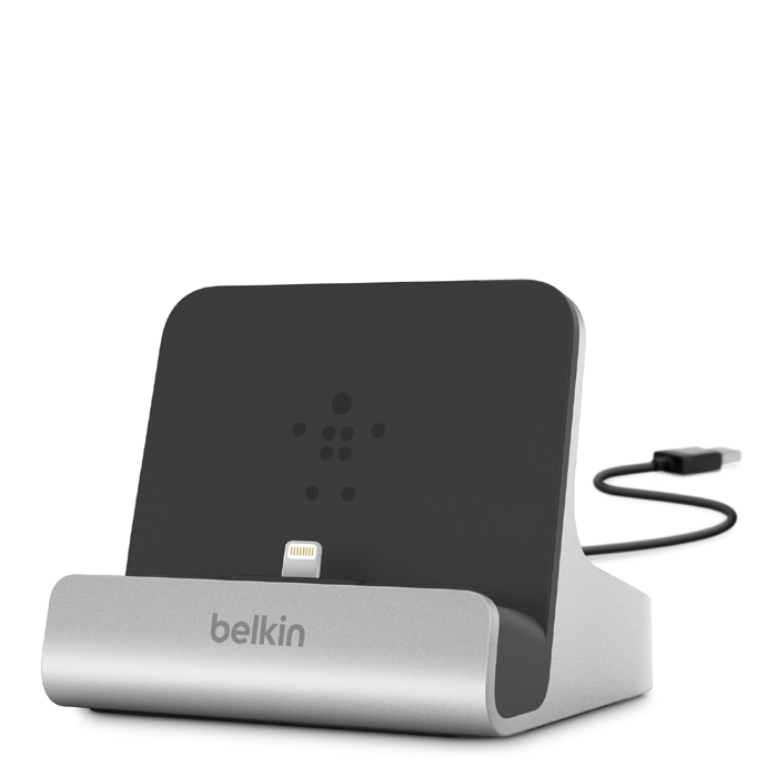 【Apple認證】Belkin iPad / iPhone Lightning 同步/充電座 銀色
