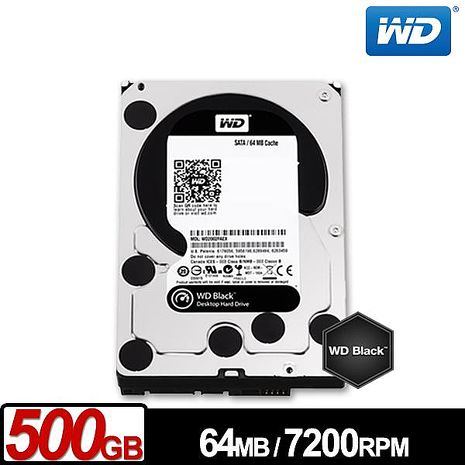 WD威騰 WD5003AZEX 黑標 500GB 3.5吋SATA硬碟