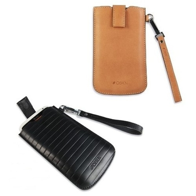 Obien Milano 4.6吋-4.8吋真皮手機皮套 (黑色)