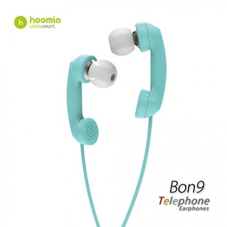 Hoomia Bon9 聽電話入耳式立體聲耳機-綠色