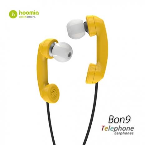 Hoomia Bon9 聽電話入耳式立體聲耳機-黃色