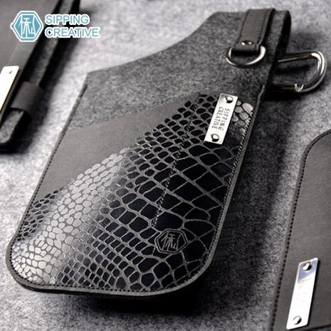 俬品創意 - 設計款紙革槍型手機套 適用5吋