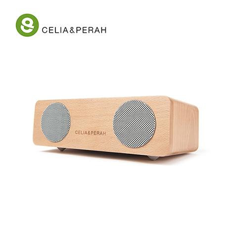 CELIA&PERAH M2 無線藍牙高傳真實木音響 山毛櫸原木色