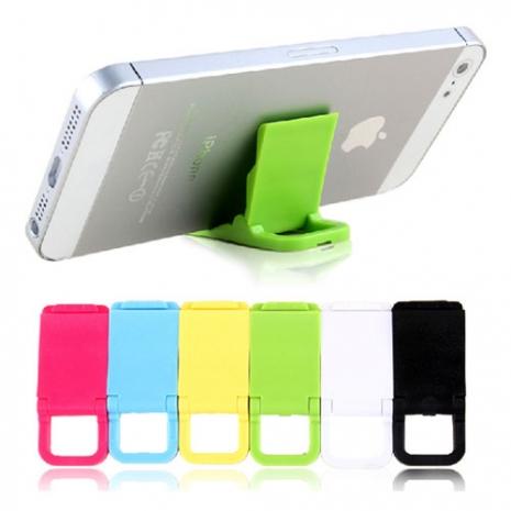 《糖果色支架-3入組》mini 迷你手機支架/ 可吊掛/ 折疊/ 輕便型支架