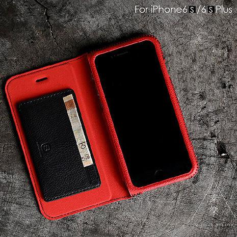 【SOLOVE】Apple iPhone6s/6 Plus 5.5吋 全真皮 側掀式皮套