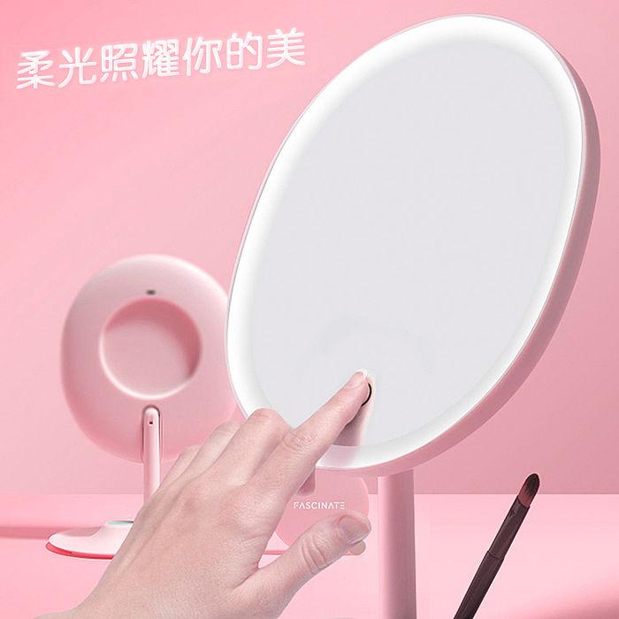 輕智能1:1臉型 LED化妝鏡 柔光補妝鏡(USB充電)