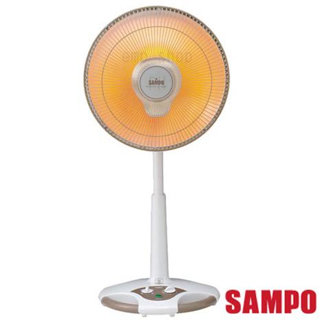 【聲寶SAMPO】 14吋風扇型鹵素電暖器 HX-FD14F