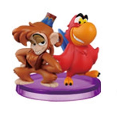 迪士尼 WCF STORY 04 阿拉丁盒玩 鸚鵡+猴子款
