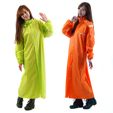 【達新牌】達新馳 新款配色尼龍全開披肩雨衣 1件入(橘色)4XL