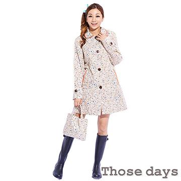 (任選)【those days】人氣款超可愛碎花美型風衣/雨衣 day21