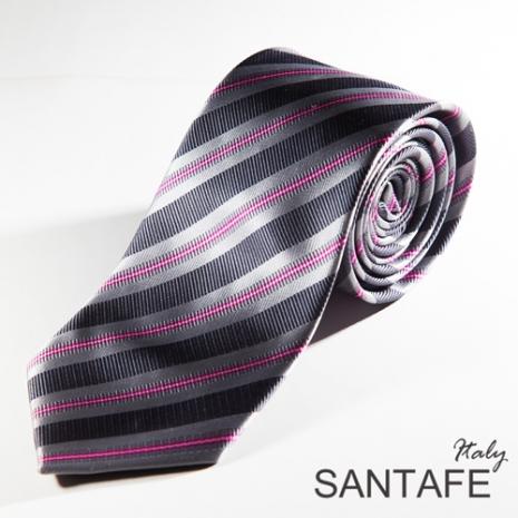 【SANTAFE】 韓國時尚灰紫經典斜紋領帶 KT-131104