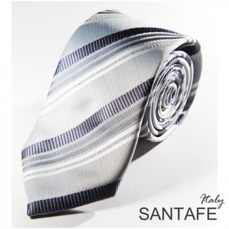 【SANTAFE】 韓國時尚灰白經典斜紋領帶 KT-131120