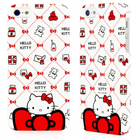 GARMMA Hello Kitty for iPhone 5/5s/SE 保護殼 - 淘氣紅