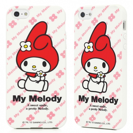 GOMO My Melody iPhone 5/5s/SE TPU保護殼-小花款白色