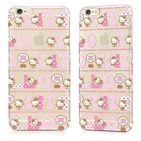 GARMMA Hello Kitty iPhone 6/6S 4.7吋保護硬殼-繽紛款