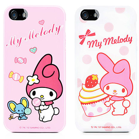 GOMO My Melody iPhone 5/5S軟式保護殼-點心系列點心粉