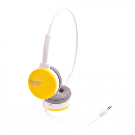CLiPtec Color Band 時尚造型頭戴式耳機(黃色)