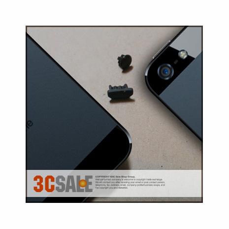 iPhone 5【Black碳黑色機種專用】防塵套件組