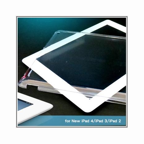 極簡輕薄New iPad 4、iPad 3、iPad 2通用型背蓋保護殼(透明)
