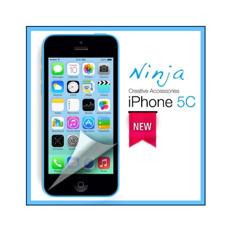 【東京御用Ninja】iPhone 5C專用高透防刮無痕螢幕保護貼